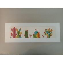 Cuadro cactus largo