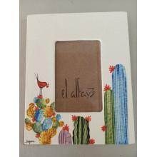 Portafotos cactus mediano